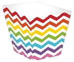 Mini envase para aperitivos con los colores del arcoiris
