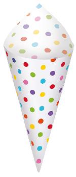 Conos con bandeja para snack con colores del arcoiris - Artículos de Fiesta