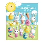 Pegatinas engomadas con relieve de personajes de pascua - Decoración Pascua