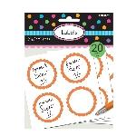 Etiquetas Naranja para Tarros de Golosinas Buffet de Dulces - 5cm