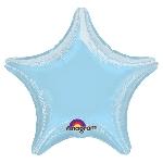 Globos Azul Pastél Metálico Estrella - Metalizado 81cm