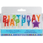 Velas ''Happy Birthday'' Multicolor Brillantes