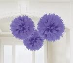 Decoracion Colgante Pompom Purple Paper Fluffy Decoration 40cm