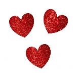 Fondo de Photocall Corazones con Purpurina Decoración San Valentín - 29cm
