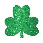 Recortes Decorativos Trébol Purpurina Verde - 26cm