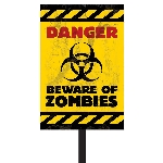 PRECIO OFERTA HALLOWEEN, DTO. NO ACUMULABLE. Zombies Plastic Lawn Signs 38cm x 27.7cm