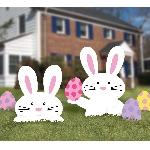 Letreros Conejos y Huevos de Pascua para el Patio - 40cm