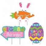 Letreros para la Búsqueda del Huevo de Pascua para el Patio