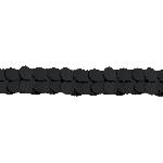 Guirnalda decorativa de papel en negro -3,7m