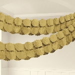 Guirnalda decorativa de papel en dorado -3,7m