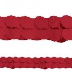 Guirnalda decorativa de papel roja-3,65m