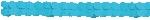 Guirnalda decorativa de papel azul turquesa-3,7m
