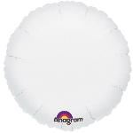 Globo Blanco Metálico Redondo - Aluminio 18'