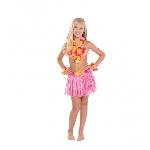 Disfraz de Niña Hula Hawaiana - 4-8 Años