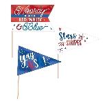 Mini Banderines USA Celebración Día de la Independencia - 23cm