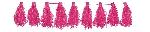 Guirnalda decorativa con borlas en rosa-3m