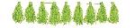 Guirnalda decorativa con borlas en verde lima-3m