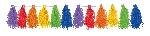 Guirnalda decorativa con borlas colores del arcoiris-3m