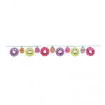Banner con Abanicos de Pascua - Decoraciones de Pascua 3.65m