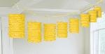 Guirnalda decorativa de lámparas de papel en amarillo-3,7m