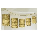 Guirnalda decorativa con lámparas de papel doradas-3,7m - Artìculos de Fiesta