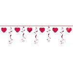 Guinalda con Espirales de Corazones Decoraciones Día de San Valentín - 2.74m