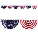 Guirnalda Estrellas y Listones USA Celebración Día de la Independencia - 2m