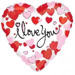 "18""/45cm HEARTS EQUAL LOVE (EMPAQUETADOS)"