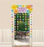 Cortina para Puerta Verano The Party's Here - Decoración Hawaiana 1,3m