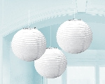 Lámparas decorativas de papel color blanco-24cm