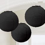 Farolillos Black Paper Lanterns 24cm