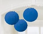 Lámparas decorativas de papel azul fuerte-24cm