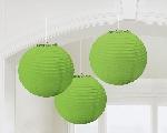 Lámparas decorativas de papel verde lima-24cm