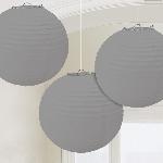 Farolillos Silver Paper Lanterns 24cm