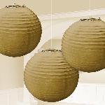 Farolillos Gold Paper Lanterns 24cm