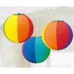 Lámparas decorativas de papel colores del arcoiris-24cm