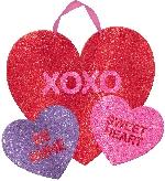 PANCARTA MULTI HEART GLITTER