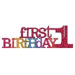 Decoración de Mesa Primer Cumpleaños Purpurina Arcoíris - 35cm