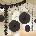 Kit Decoración de Salón de Papel y Metalizado Negro