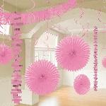 Kit decorativo de papel metalizado rosa para la habitación