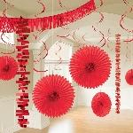 Kit de Decoración Papel Detalizado Rojo - Decoración