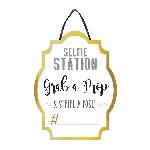 Cartel personalizado Selfie Station para Photocall