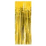 Cortina amarilla con flecos para la puerta