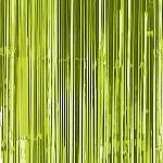 Cortina para puerta con flecos metálicos verde lima
