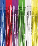 Cortina de flecos metalizados de colores para la puerta-2,4m