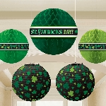 Pack de Linternas Panal Verdes Decoración San Patricio