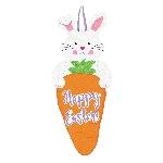 Letrero de Conejo de Pascua con Zanahoria - Letrero de Fieltro 60cm