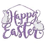 Letrero Felices Pascuas Purpurina - Letras Recortadas de Espuma 33cm x 22cm
