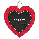 Cartel pizarra con forma de corazón de MDF
