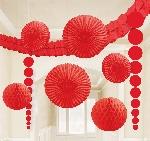 Kit Decor. Colgante Roja